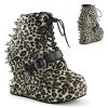 BRAVO-23 Leopard Print Faux Leather